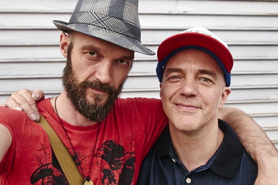 With Pétur Hallgrímsson